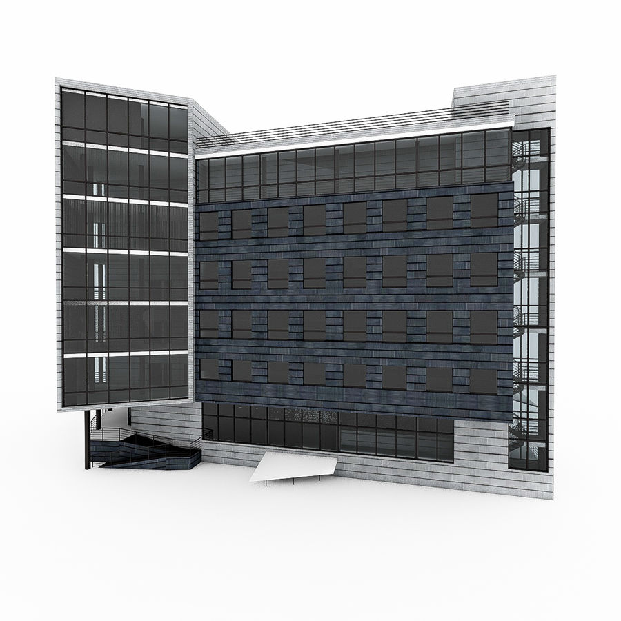 City Office Building 7 royalty-free 3d model - Preview no. 9