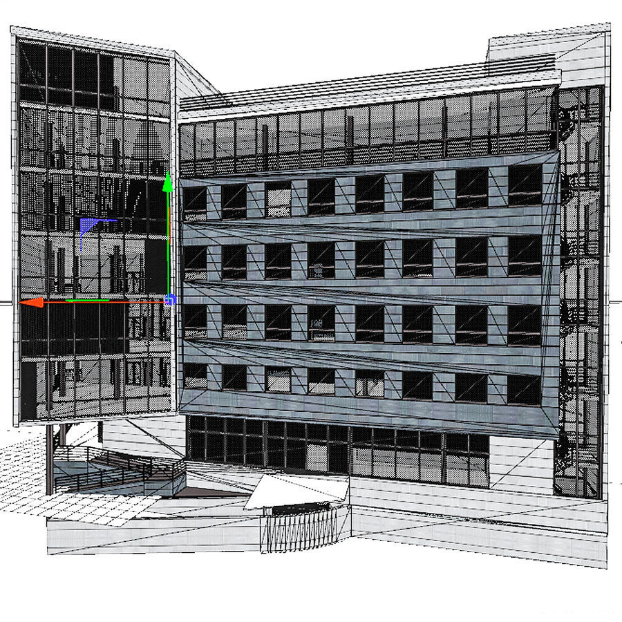 City Office Building 7 royalty-free 3d model - Preview no. 12