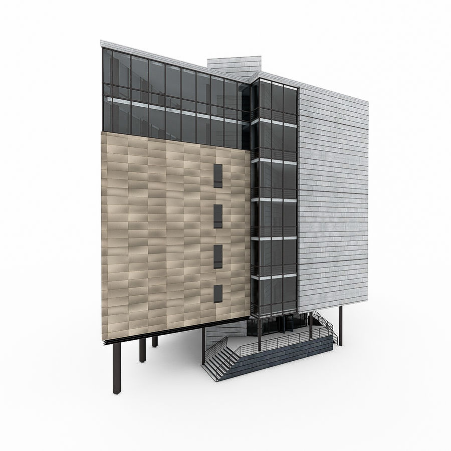 City Office Building 7 royalty-free 3d model - Preview no. 1