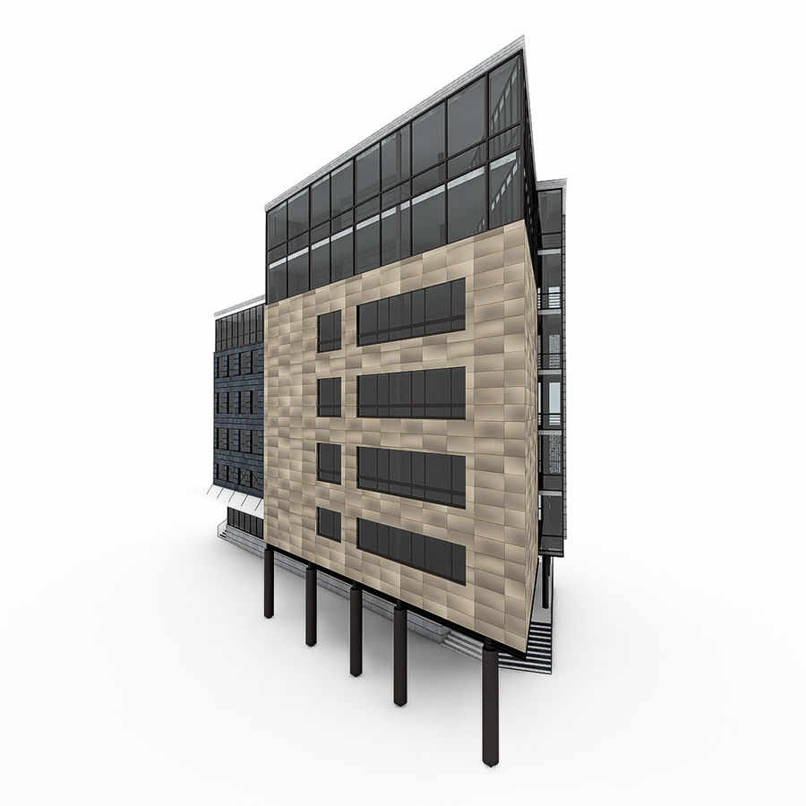 City Office Building 7 royalty-free 3d model - Preview no. 5