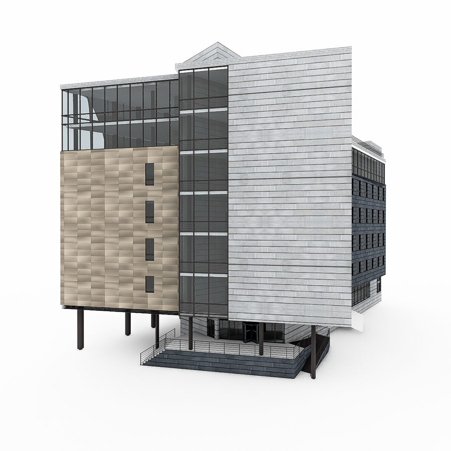 City Office Building 7 royalty-free 3d model - Preview no. 3