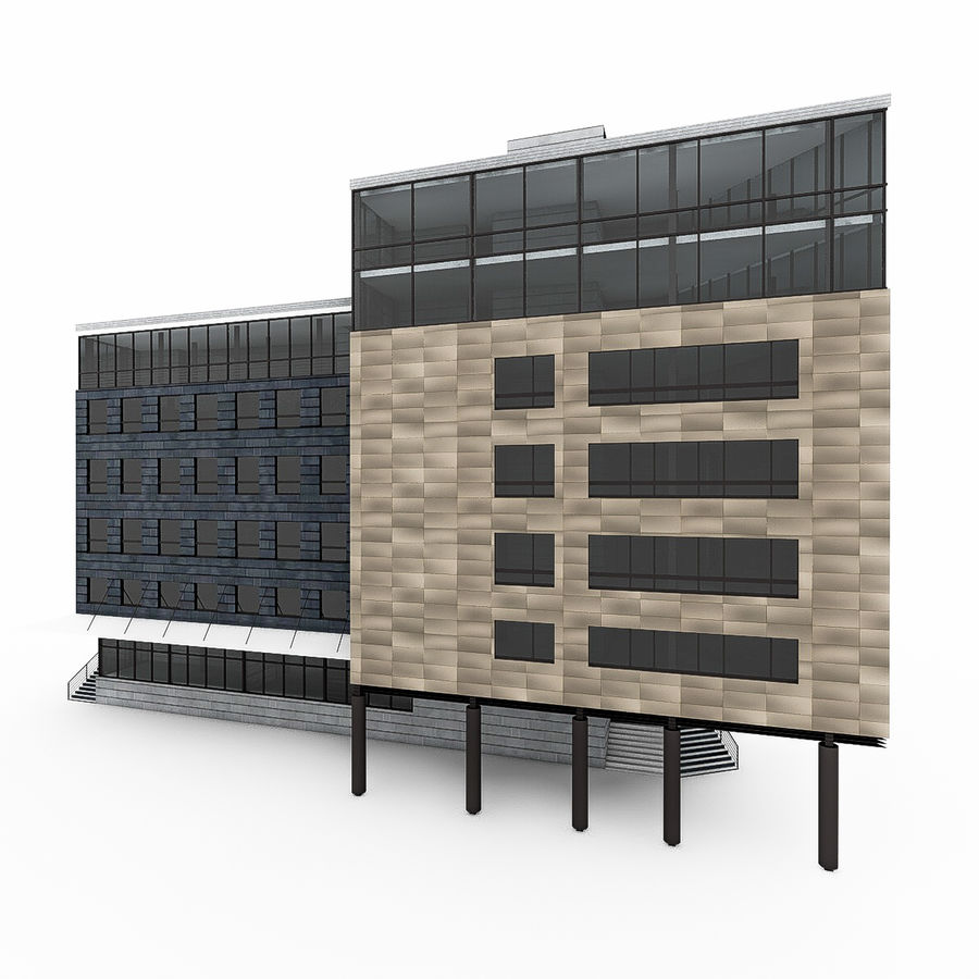 City Office Building 7 royalty-free 3d model - Preview no. 6