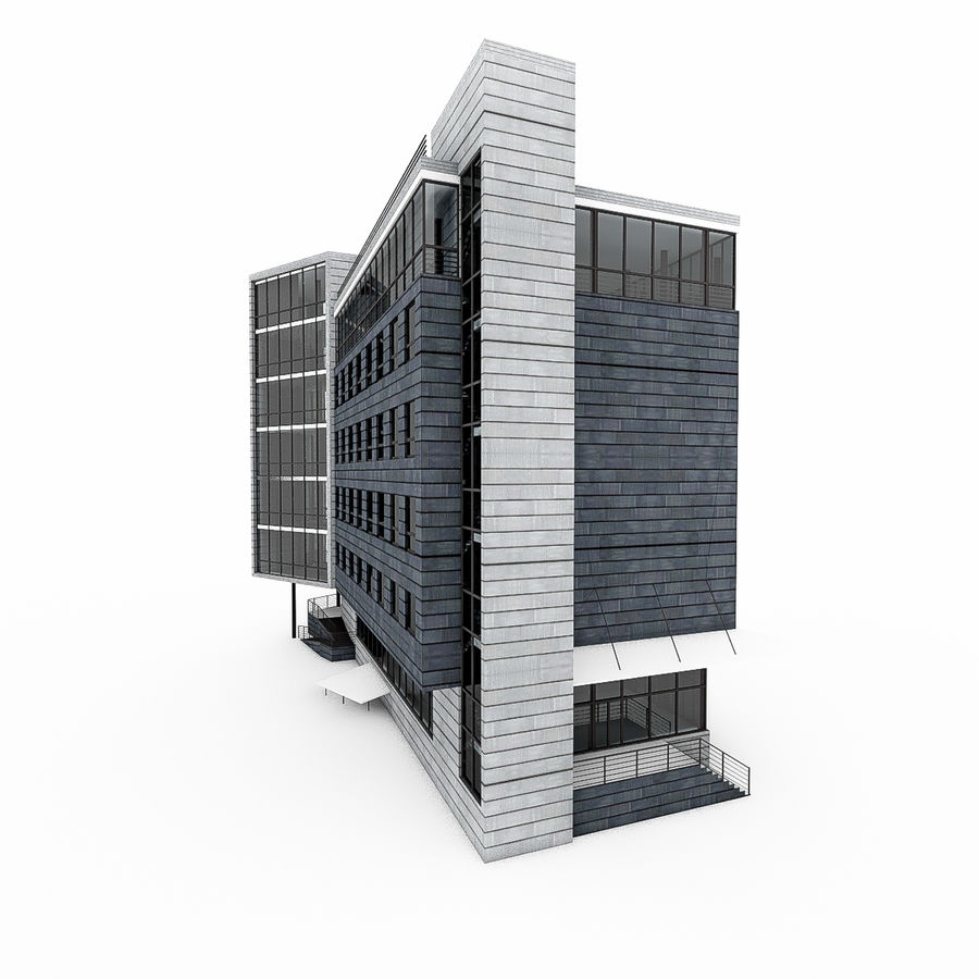 City Office Building 7 royalty-free 3d model - Preview no. 2