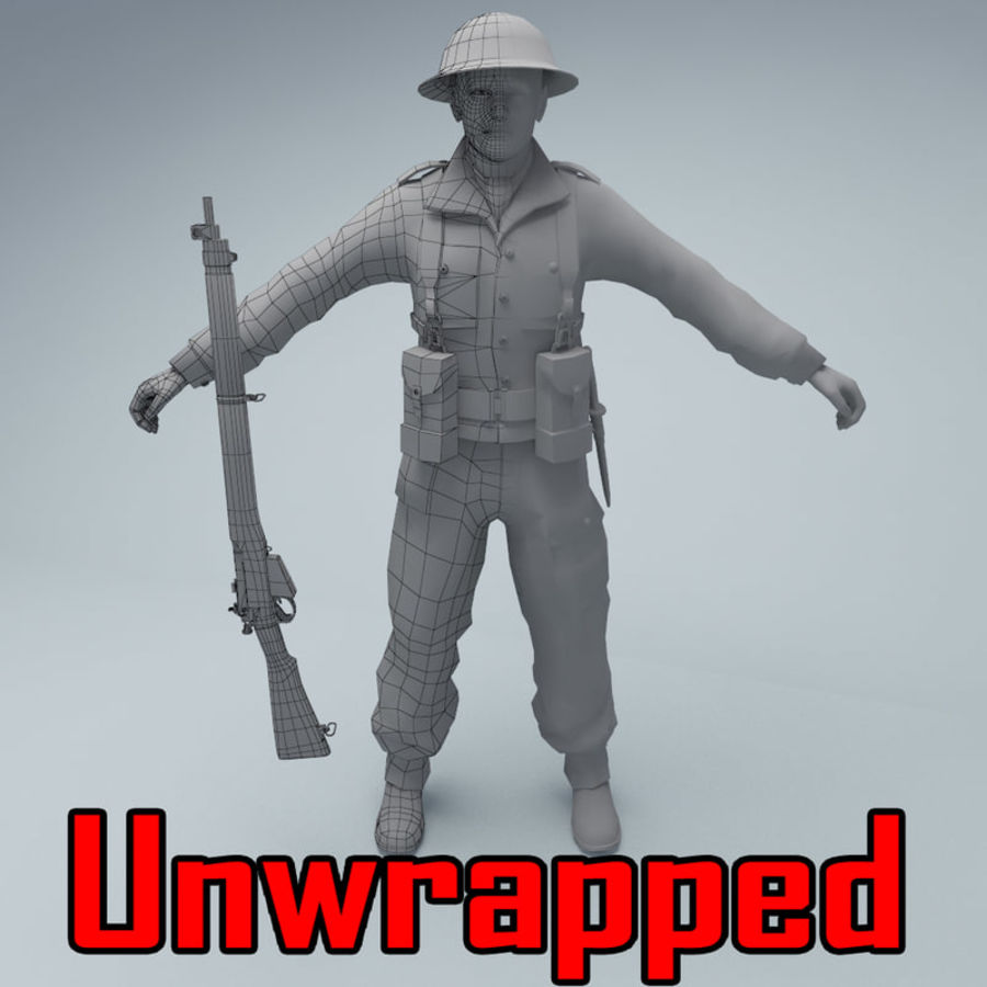 British soldier royalty-free 3d model - Preview no. 1