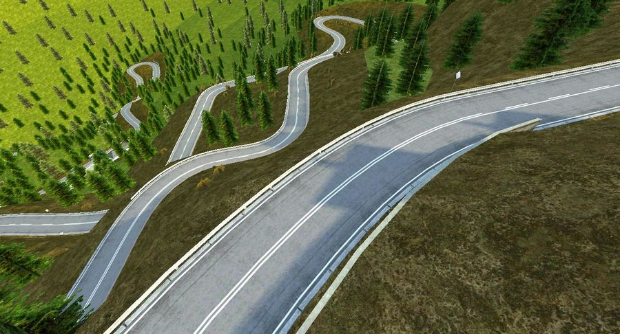 Hill Race Track royalty-free 3d model - Preview no. 2