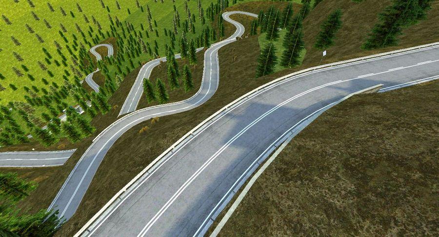 Pista de corrida de colina royalty-free 3d model - Preview no. 2