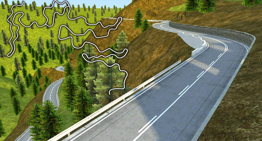 Hill Race Track royalty-free 3d model - Preview no. 1