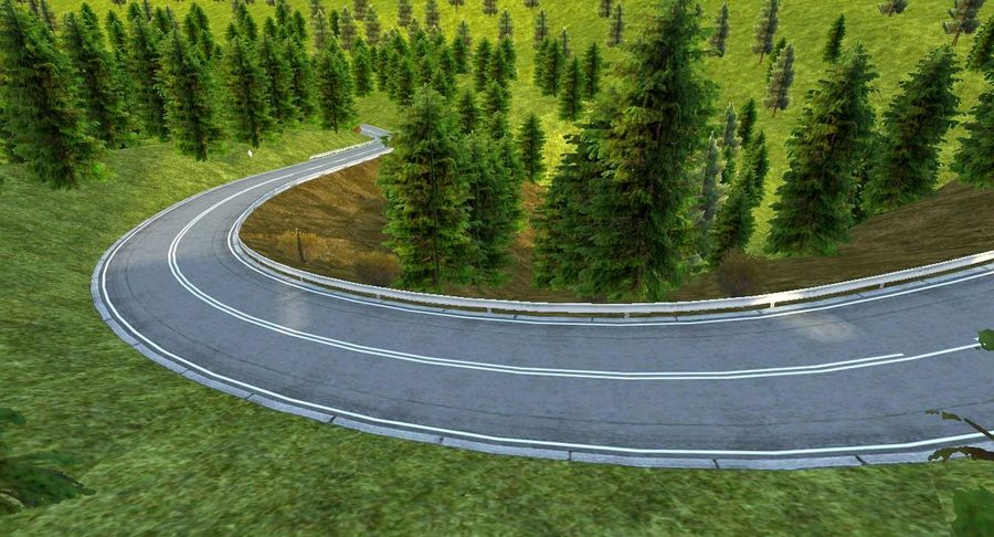 Hill Race Track royalty-free 3d model - Preview no. 17