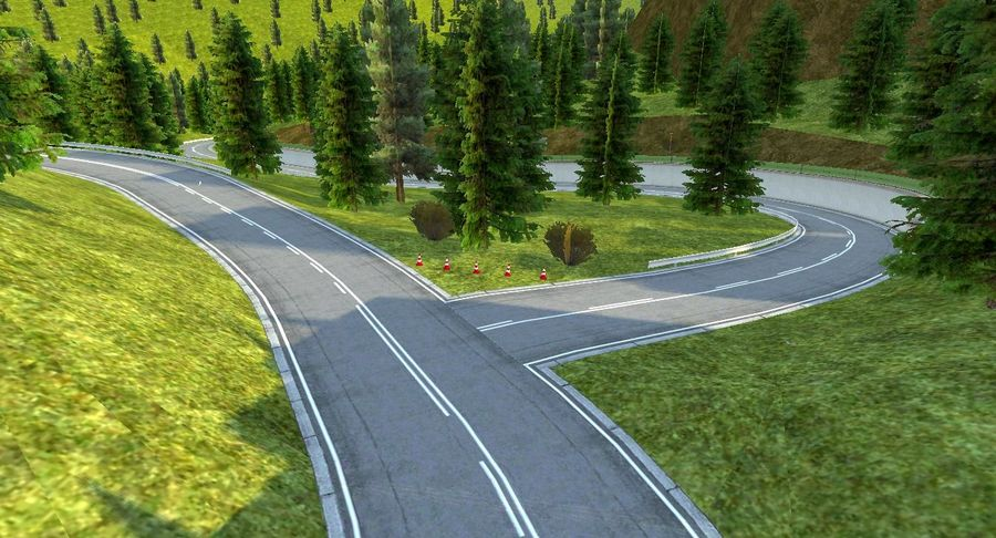 Hill Race Track royalty-free 3d model - Preview no. 3