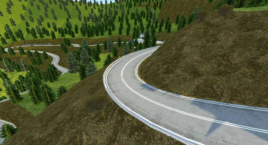 Hill Race Track royalty-free 3d model - Preview no. 10