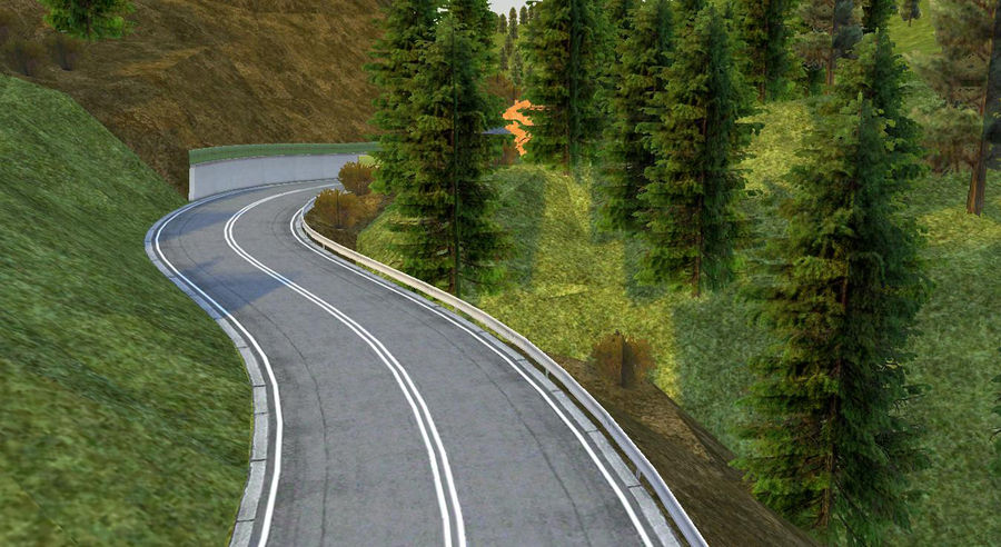 Hill Race Track royalty-free 3d model - Preview no. 5