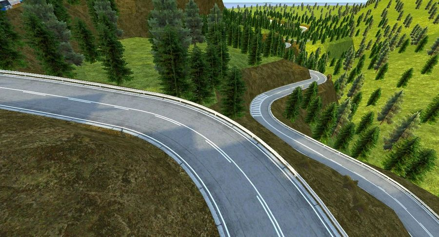 Hill Race Track royalty-free 3d model - Preview no. 6