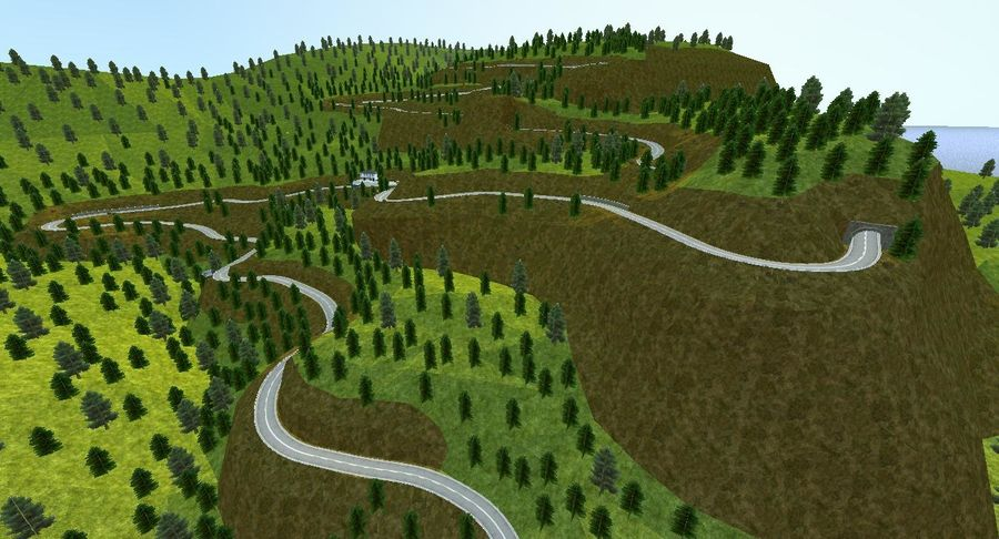 Pista de corrida de colina royalty-free 3d model - Preview no. 20