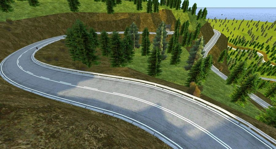 Hill Race Track royalty-free 3d model - Preview no. 18