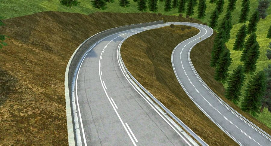 Hill Race Track royalty-free 3d model - Preview no. 12