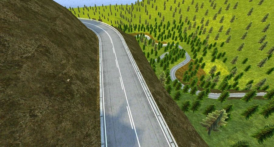 Hill Race Track royalty-free 3d model - Preview no. 11