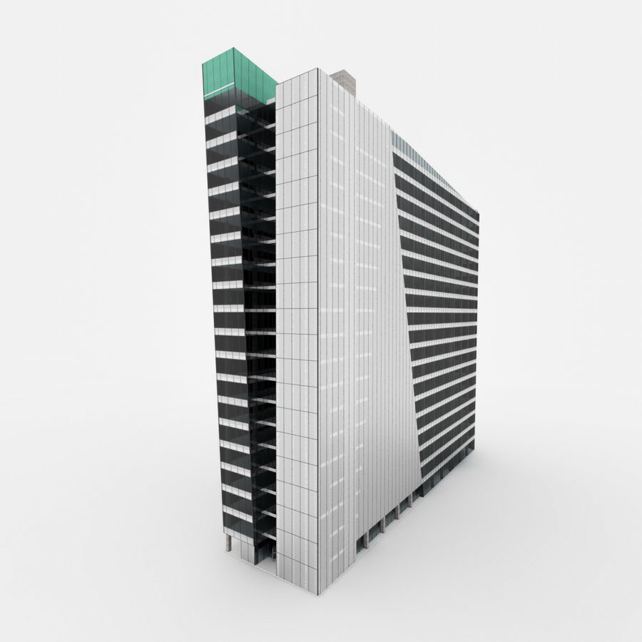 City Office Building 3 royalty-free 3d model - Preview no. 3