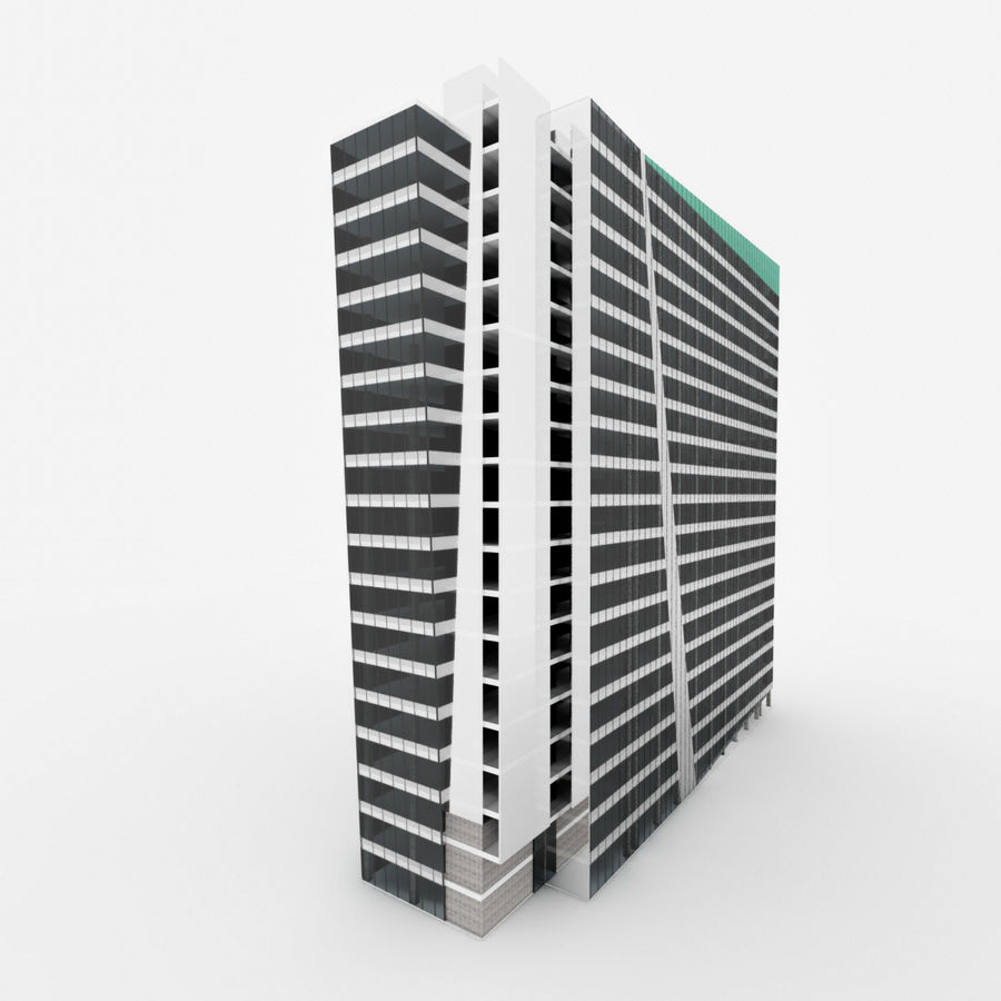 City Office Building 3 royalty-free 3d model - Preview no. 5