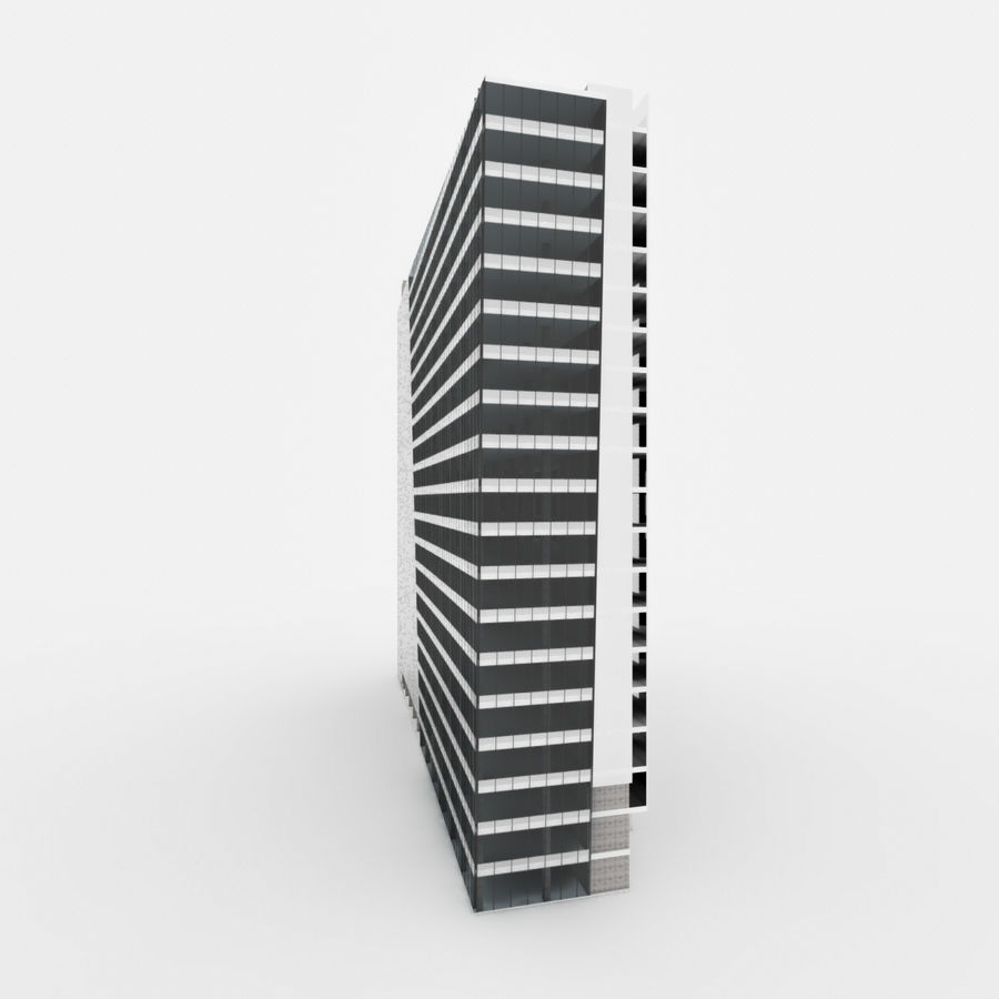 City Office Building 3 royalty-free 3d model - Preview no. 4