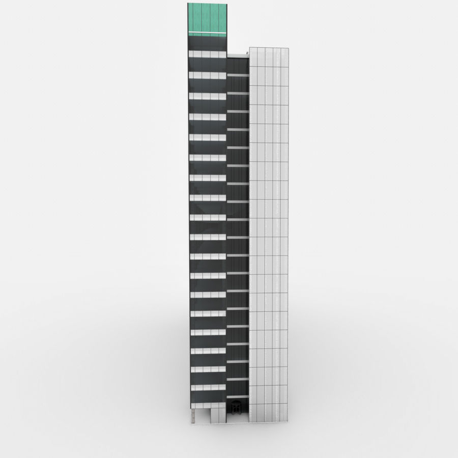 City Office Building 3 royalty-free 3d model - Preview no. 2