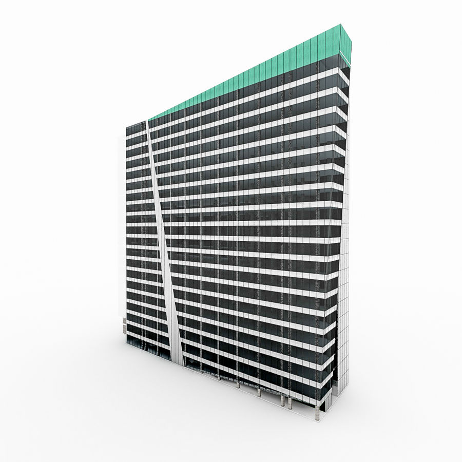 City Office Building 3 royalty-free 3d model - Preview no. 1