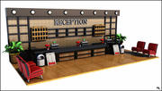 Hotell receptionen 3d model