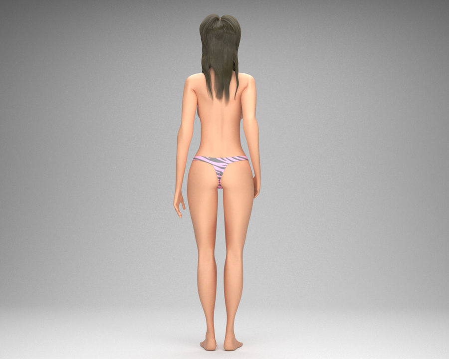 Sexy weibliches Modell 3d royalty-free 3d model - Preview no. 6