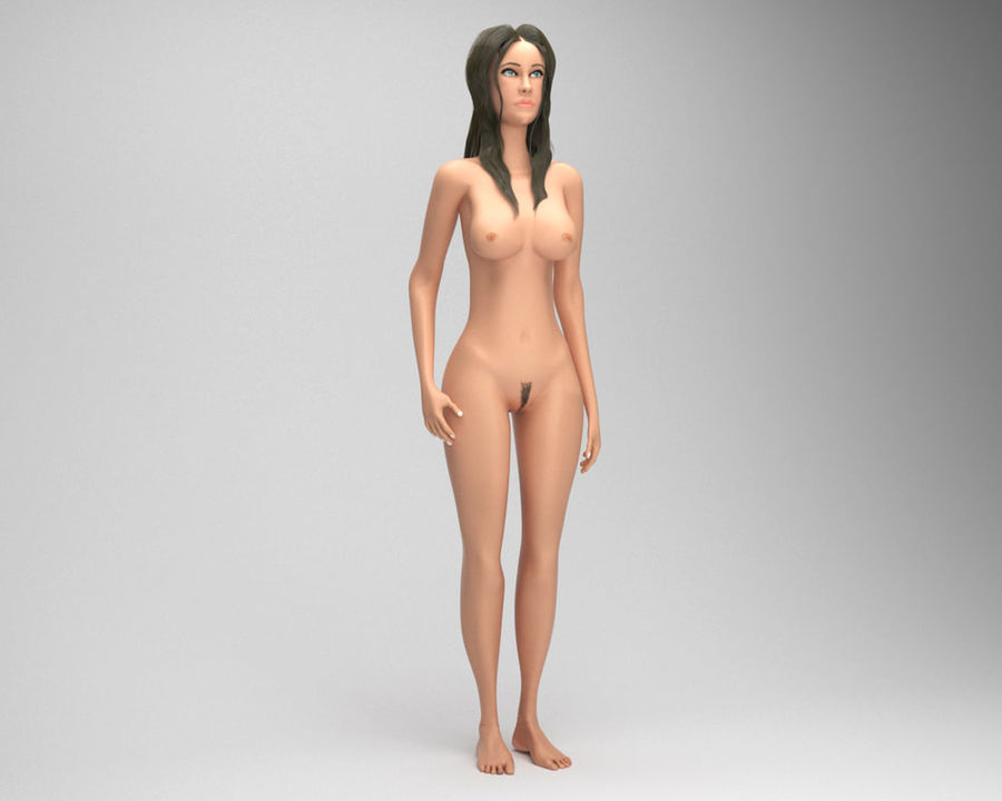 Sexy female 3d model royalty-free 3d model - Preview no. 4