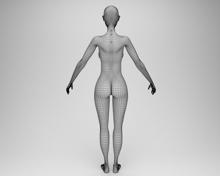 Sexy female 3d model royalty-free 3d model - Preview no. 12