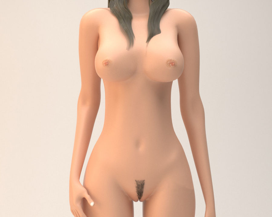 Sexy weibliches Modell 3d royalty-free 3d model - Preview no. 8