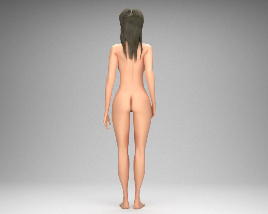 Sexy weibliches Modell 3d royalty-free 3d model - Preview no. 7
