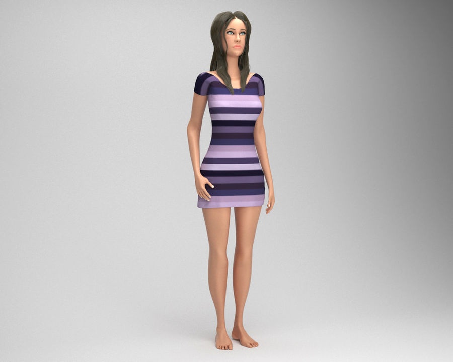 Sexy female 3d model royalty-free 3d model - Preview no. 2