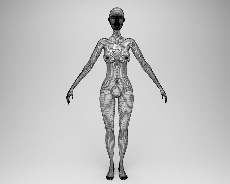 Sexy female 3d model royalty-free 3d model - Preview no. 11