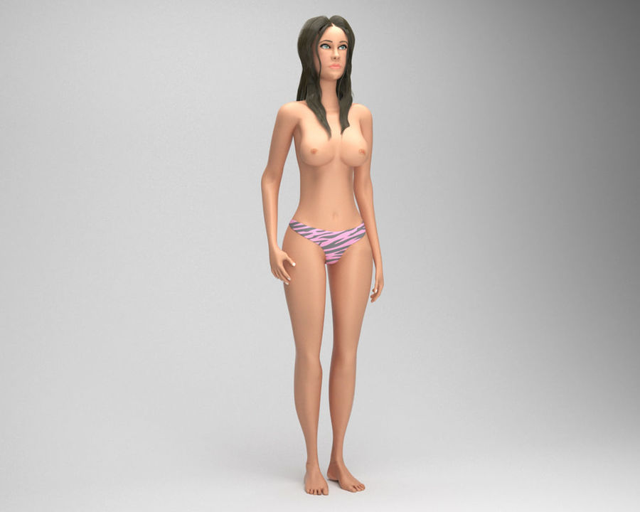 Sexy weibliches Modell 3d royalty-free 3d model - Preview no. 3