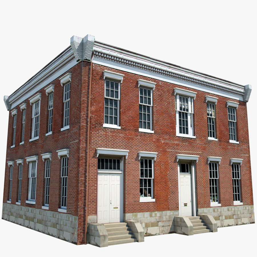 Old Apartment: Apartment Building Or Old Town Hall 3D Model $49
