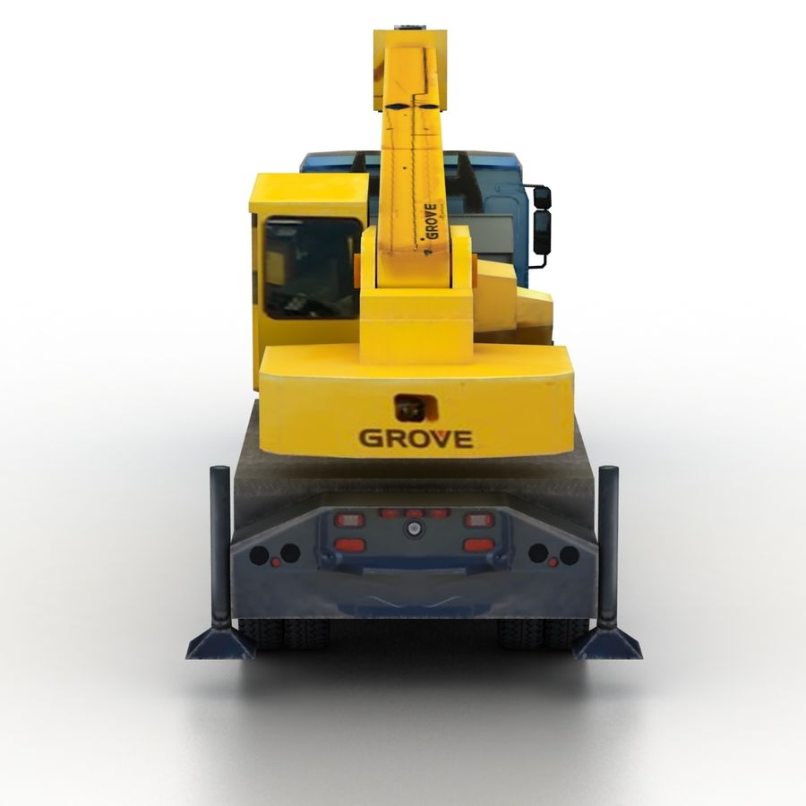 Volvo FE Crane 2013 royalty-free 3d model - Preview no. 5