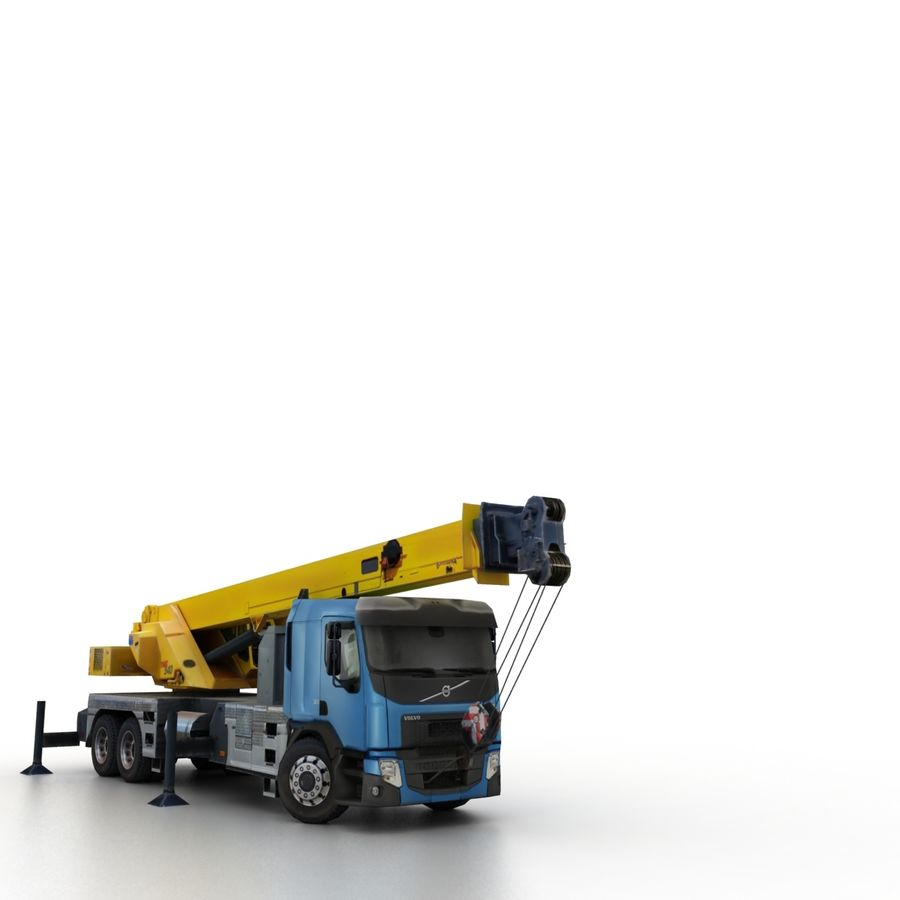 Volvo FE Crane 2013 royalty-free 3d model - Preview no. 8