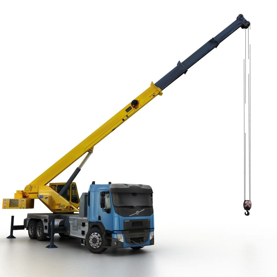 Volvo FE Crane 2013 royalty-free 3d model - Preview no. 10