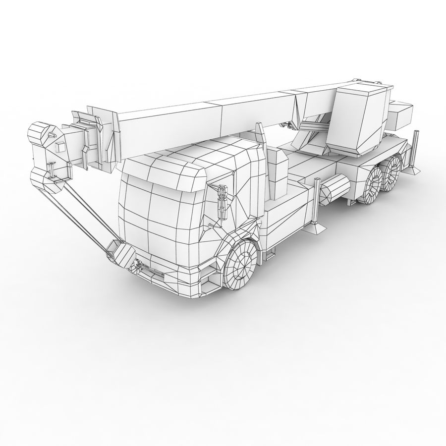 Volvo FE Crane 2013 royalty-free 3d model - Preview no. 11