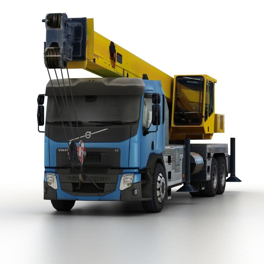Volvo FE Crane 2013 royalty-free 3d model - Preview no. 6