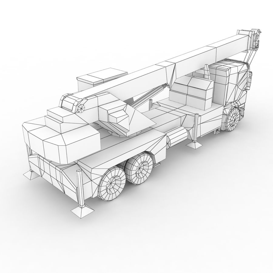 Volvo FE Crane 2013 royalty-free 3d model - Preview no. 12