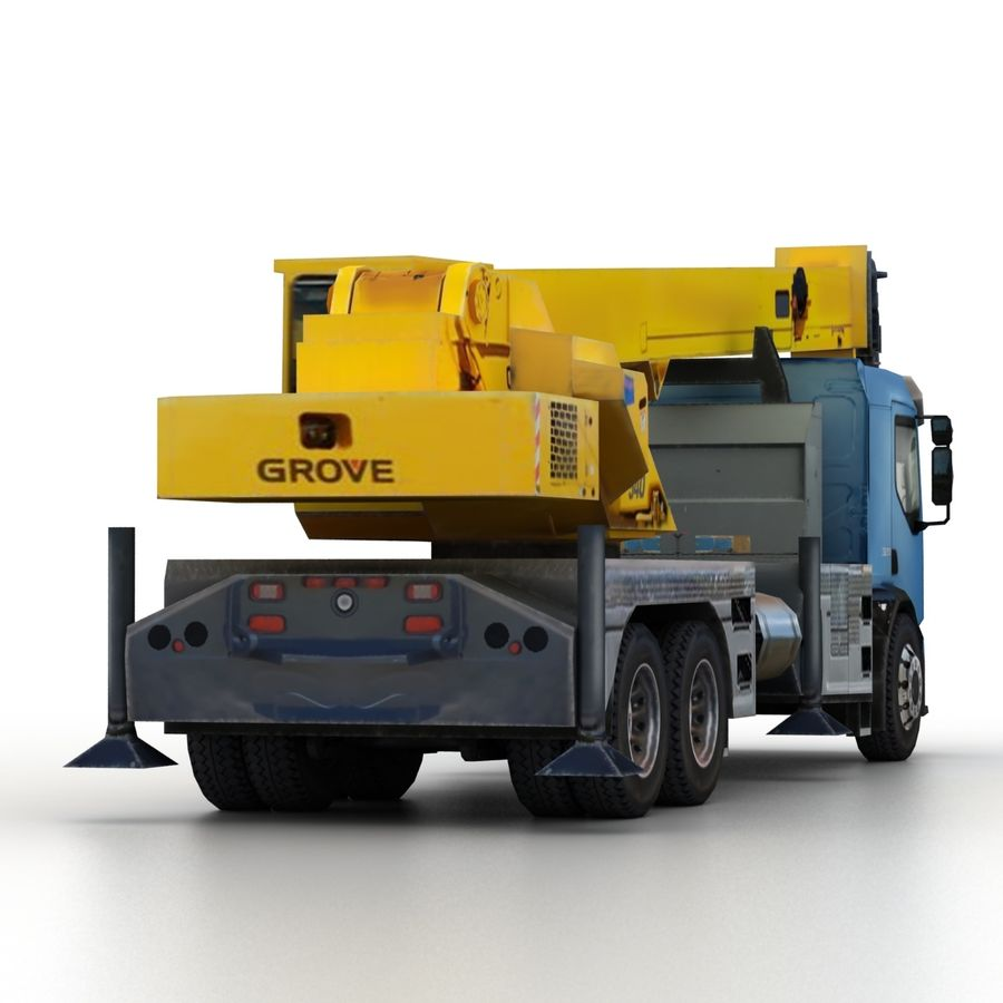 Volvo FE Crane 2013 royalty-free 3d model - Preview no. 7