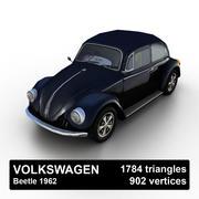 VW Beetle Kafer 1962 3d model