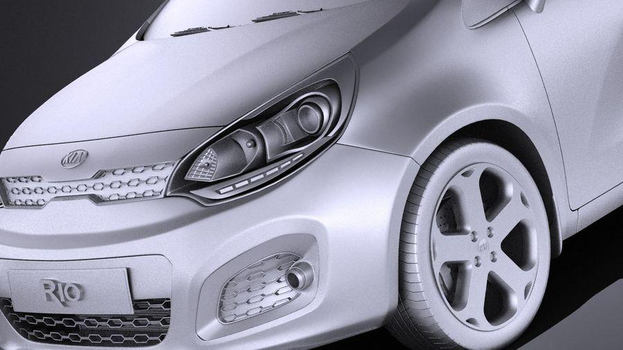 Kia Rio 2014 5door VRAY royalty-free 3d model - Preview no. 10