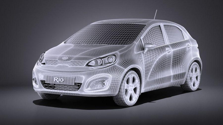 Kia Rio 2014 5door VRAY royalty-free 3d model - Preview no. 13