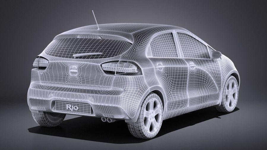 Kia Rio 2014 5door VRAY royalty-free 3d model - Preview no. 14