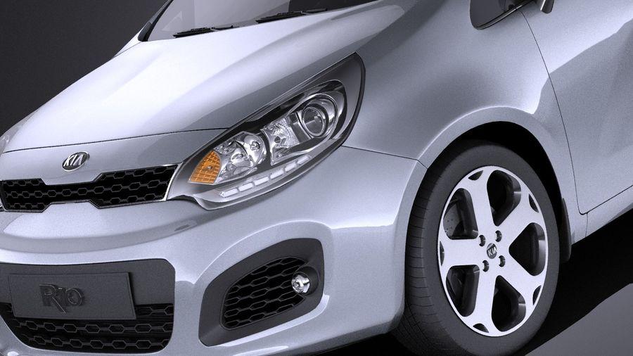 Kia Rio 2014 5door VRAY royalty-free 3d model - Preview no. 3