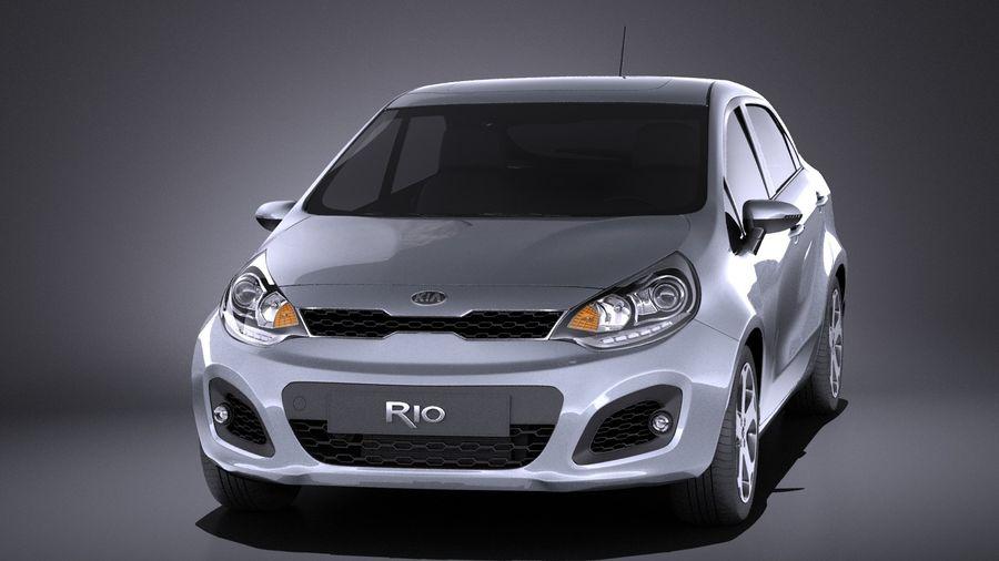 Kia Rio 2014 5door VRAY royalty-free 3d model - Preview no. 2