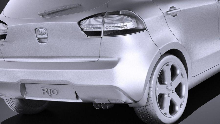 Kia Rio 2014 5door VRAY royalty-free 3d model - Preview no. 11