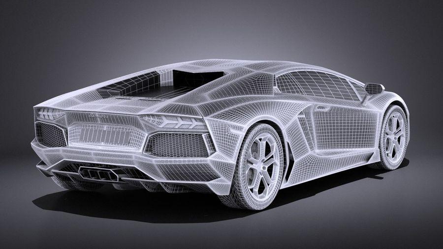 Lamborghini Aventador LP700-4 2016 VRAY royalty-free 3d model - Preview no. 14